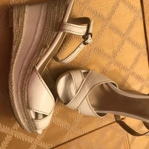 White wedge espadrille